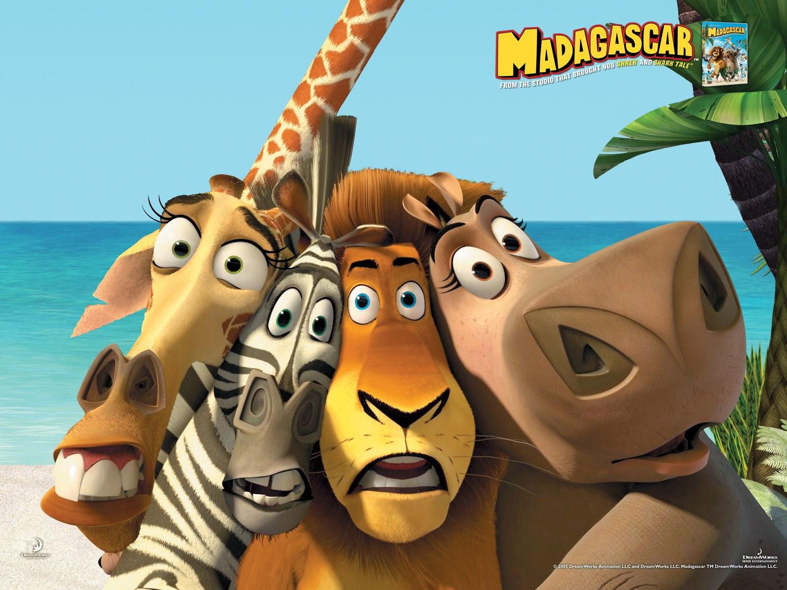 Cartoon Characters 2005 : Kids n fun wallpaper madagascar