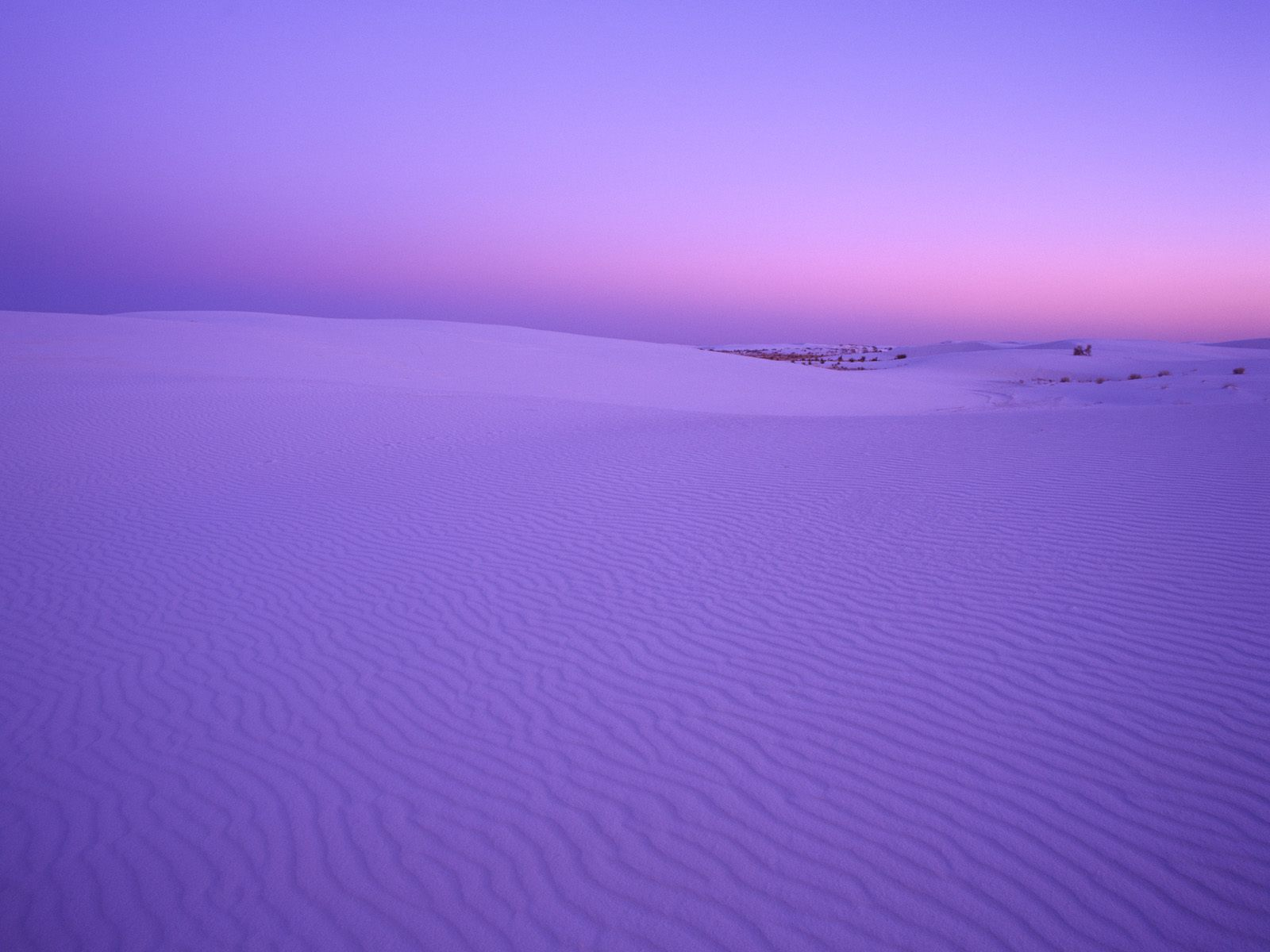 White sands national monument at twilight, new mexico