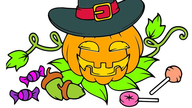 Halloween kids coloring book