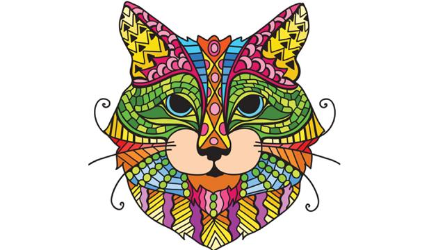 Cats adults coloring pages