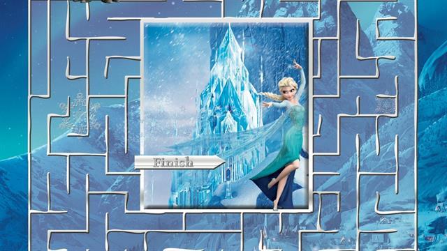 Kids N Fun Com 5 Puzzle Of Maze Frozen