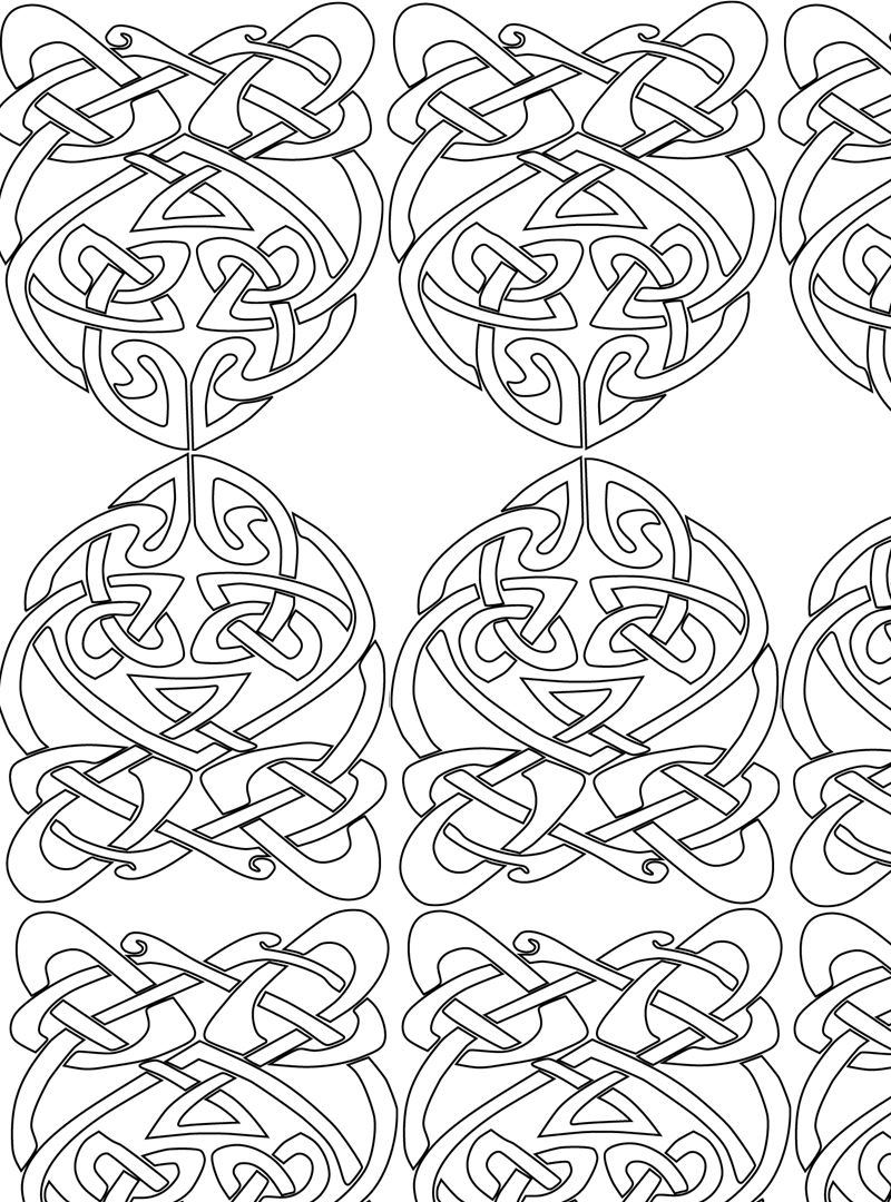 Kids-n-fun.com | 13 coloring pages of Abstract for adults