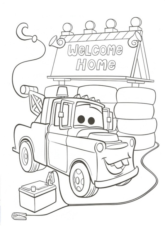 cars 2 pixar coloring pages - photo#17