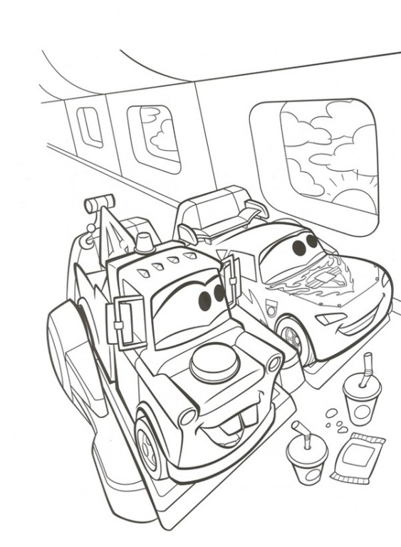 Kids n funcom 38 coloring pages of Cars 2