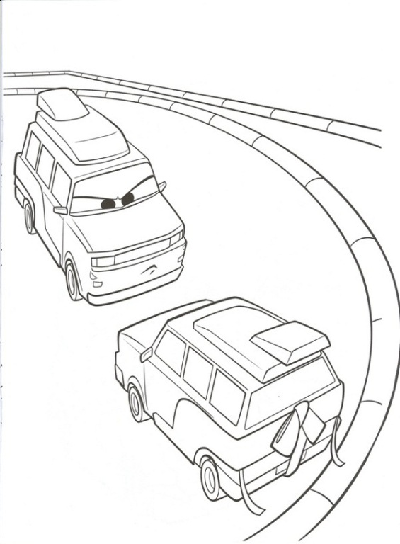 38 cars 2 coloring pages - Coloring Pages Car 2