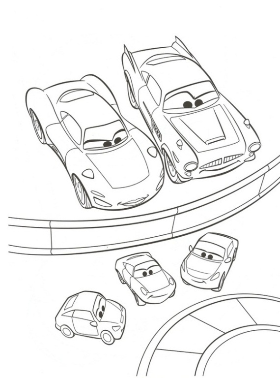 38 cars 2 coloring pages - Cars 2 Coloring Pages To Print