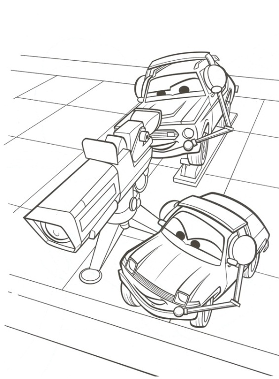 kidsnfun  38 coloring pages of cars 2