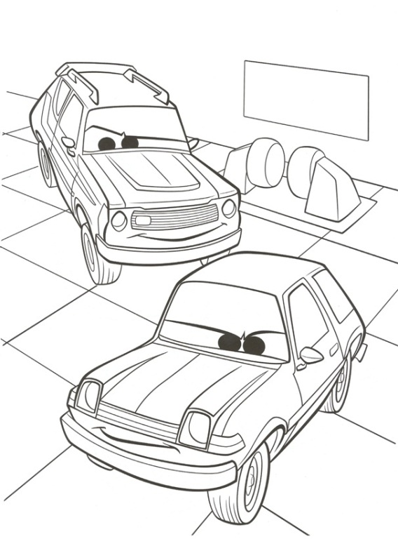 Kids n funcouk 38 coloring pages of Cars 2