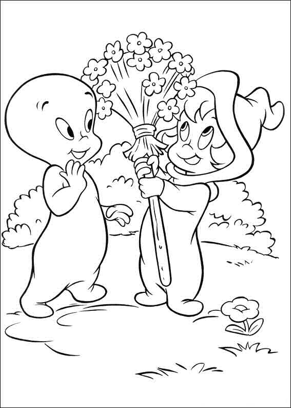 Kids N Fun Com Coloring Page Casper The Friendly Ghost