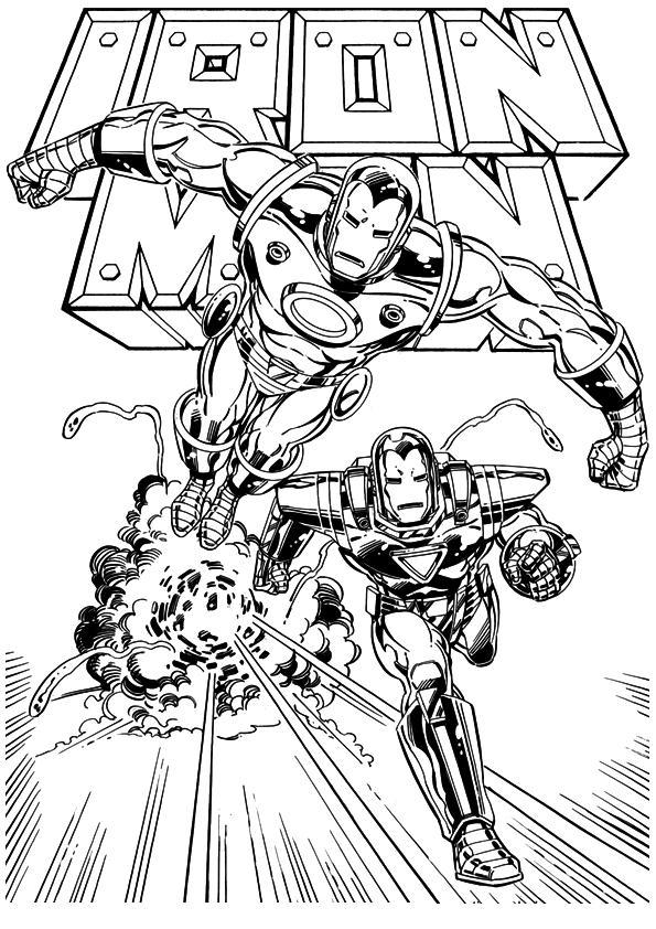 Kids-n-fun.co.uk | 60 coloring pages of Iron Man