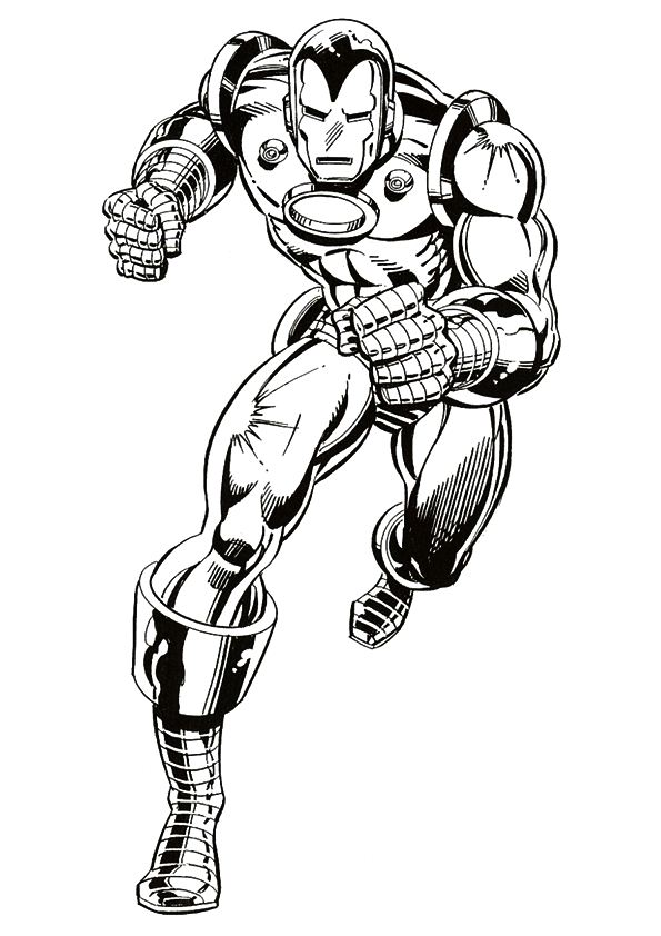 Kids n funcouk 60 coloring pages of Iron Man