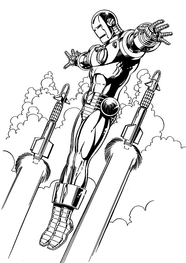 Kids n funcom 60 coloring pages of Iron Man