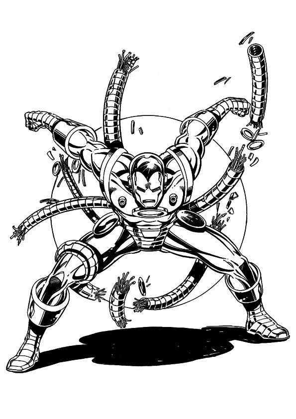 kids-n-fun | 60 coloring pages of iron man