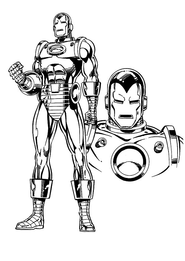 Kids-n-fun.com | 60 coloring pages of Iron Man