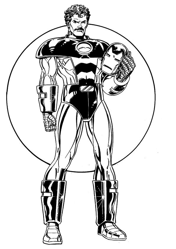 iron man - Iron Man Coloring Book