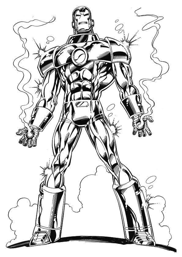 Kids n 60 coloring pages of iron man for Ironman coloring pages free