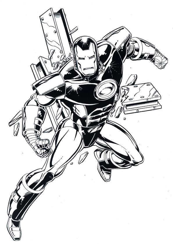 kidsnfun  60 coloring pages of iron man