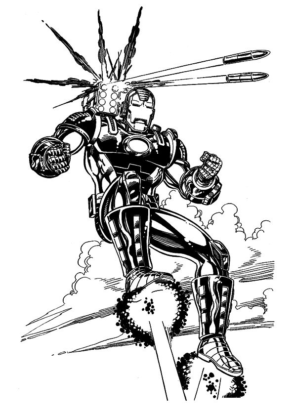 Kidsnfuncom  60 coloring pages of Iron Man