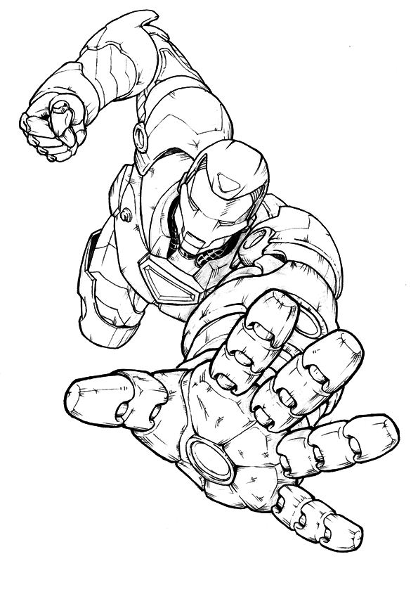 Kids n 60 coloring pages of iron man for Disegni da colorare iron man