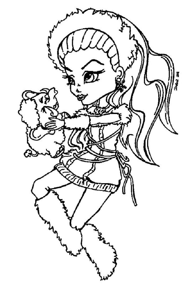 Kids N Fun Co Uk Coloring Page Monster High Abbey Bominable