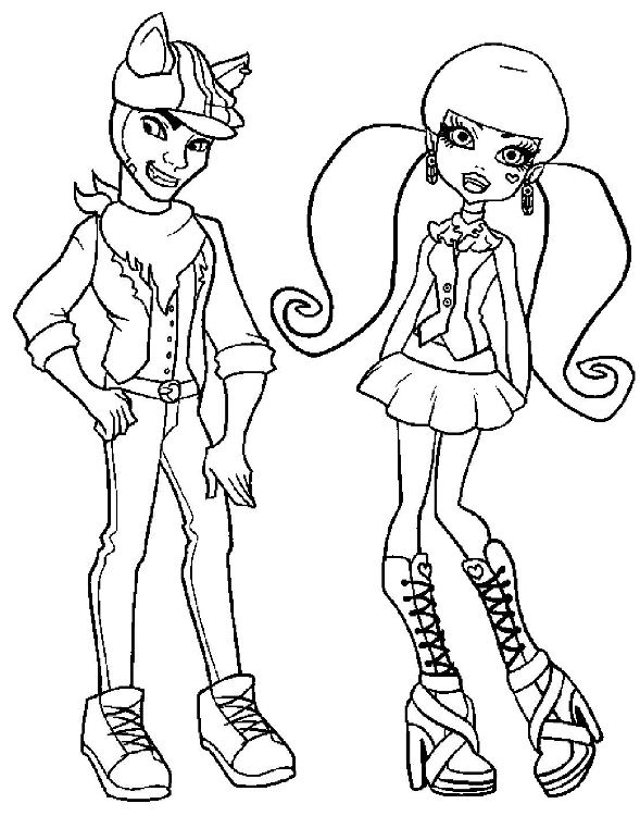 Kids N Fun Com 32 Coloring Pages Of Monster High