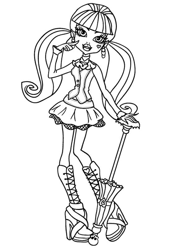 draculaura - Monster High Coloring Pages