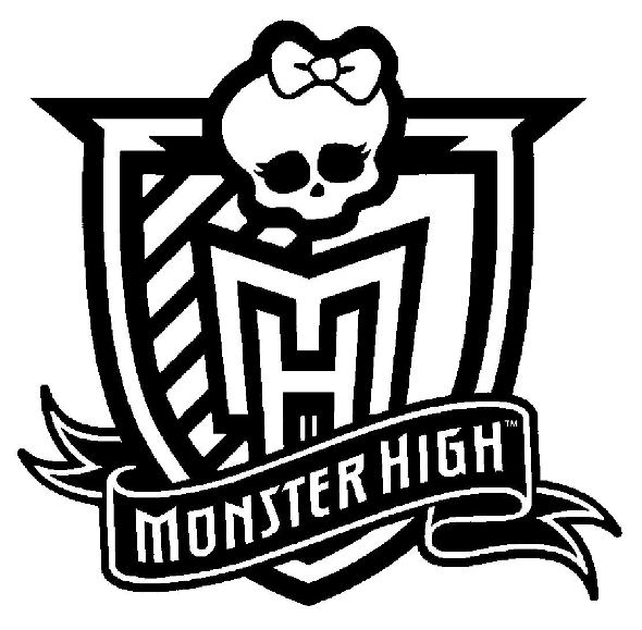 monster high logo - Monster High Coloring Pages