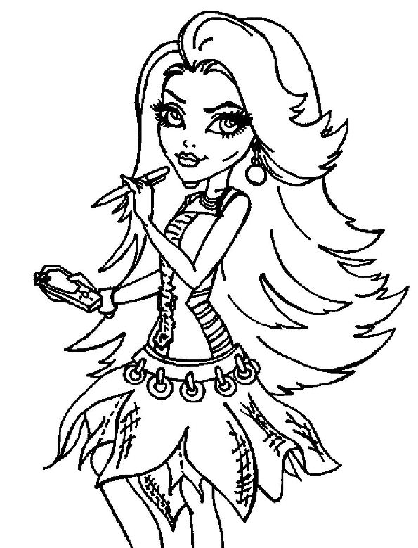 kids n funcom 32 coloring pages of monster high - Girls Coloring Pages Monster High