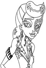 Kids n fun 32 coloring pages of monster high for Operetta monster high coloring pages