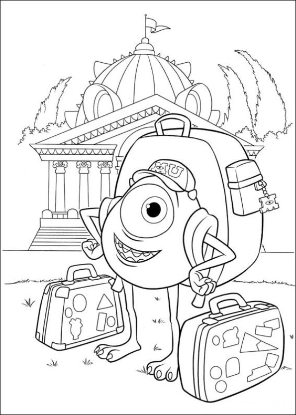 and more of these coloring pages coloring pages of monsters inc witches - Pixar Coloring Pages Monsters