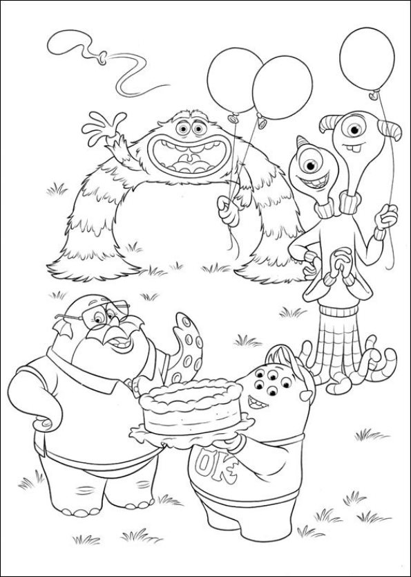 monsters university - Pixar Coloring Pages Monsters