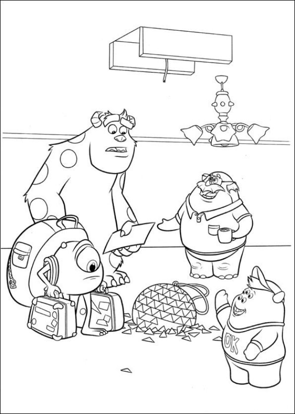 monsters university mike coloring pages - photo#5
