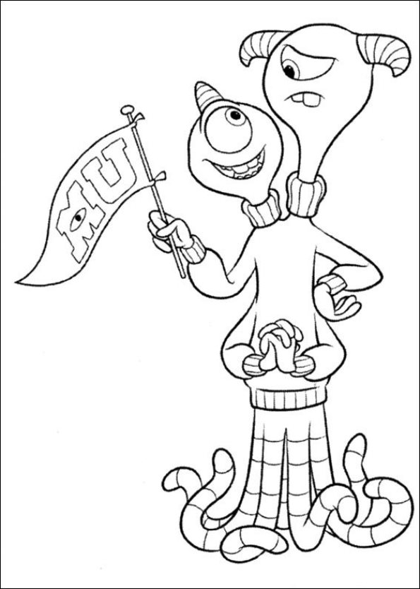 45 monsters university coloring pages