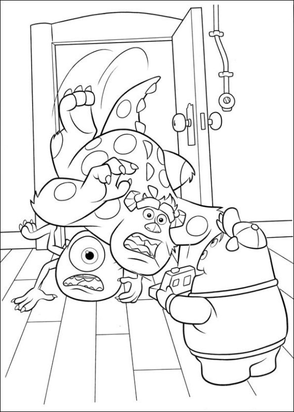 Kids n funcom 45 coloring pages of Monsters University