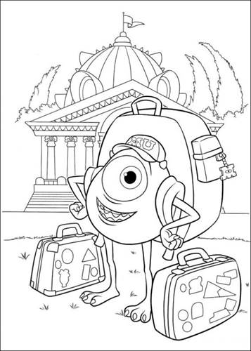 Kids N Fun Com 45 Coloring Pages Of Monsters University