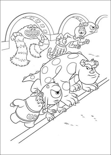 Kids-n-fun.com | 45 coloring pages of Monsters University | 500x357