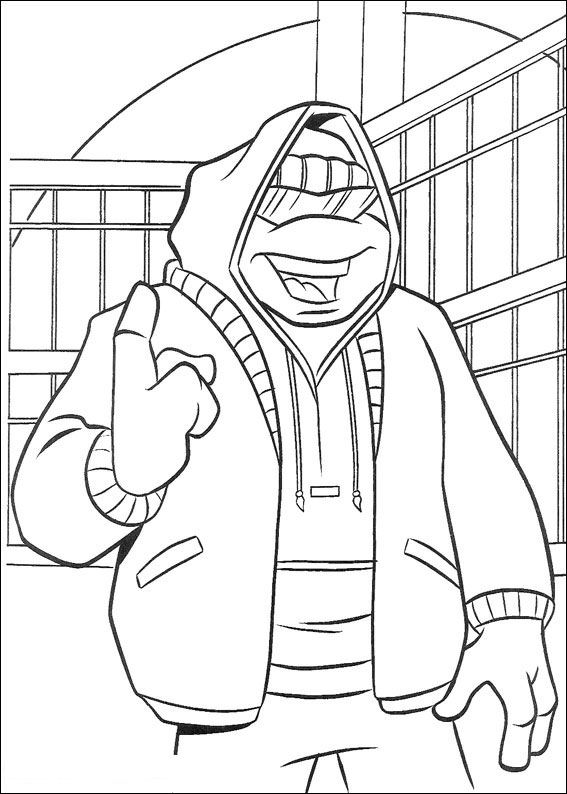 80 ninja turtles coloring pages