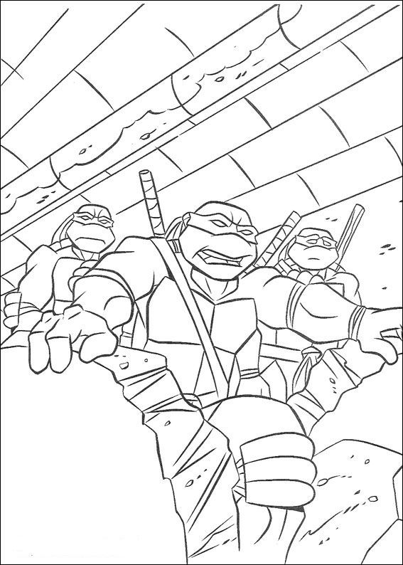 kids-n-fun.co.uk | 80 coloring pages of ninja turtles - Ninja Turtle Pizza Coloring Pages
