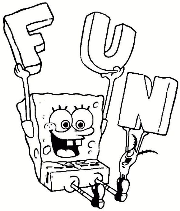 spongebob squarepants - Spongebob Squarepants Coloring Pages Free Printable
