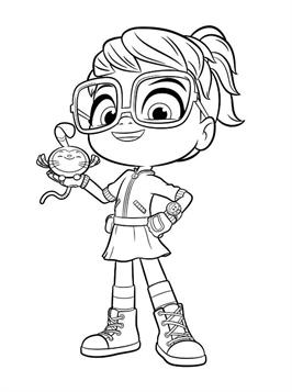 Kids N Fun Com 12 Coloring Pages Of Abby Hatcher