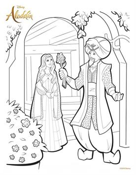 Kids N Fun Com 10 Coloring Pages Of Aladdin 2019