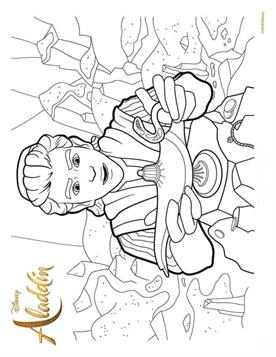 9 Free Printable New Aladdin Movie Coloring Pages - 1NZA | 357x276