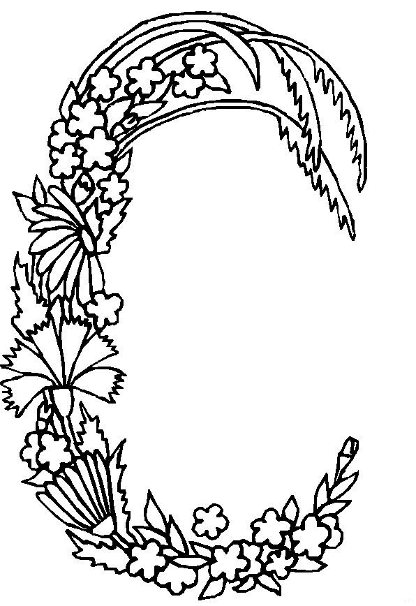 Floral Letters Coloring : 50 best coloring books and pages images on pinterest