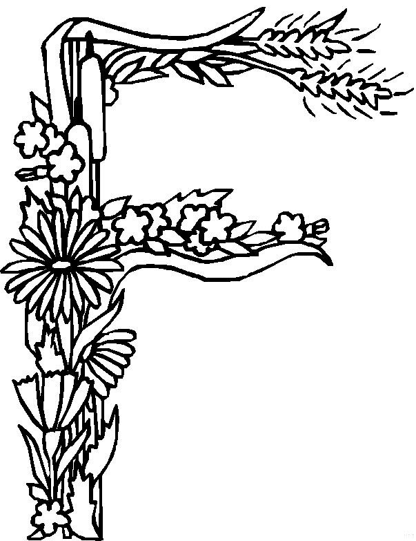 flower alphabet coloring pages - photo#2