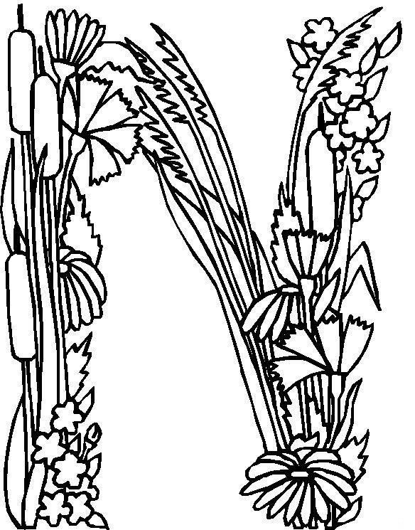 Kleurplaten Letter W.Kids N Fun Com Coloring Page Alphabet Flowers Alphabet Flowers