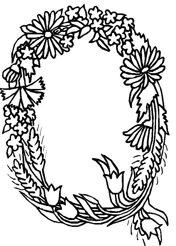 flower alphabet coloring pages - photo#3