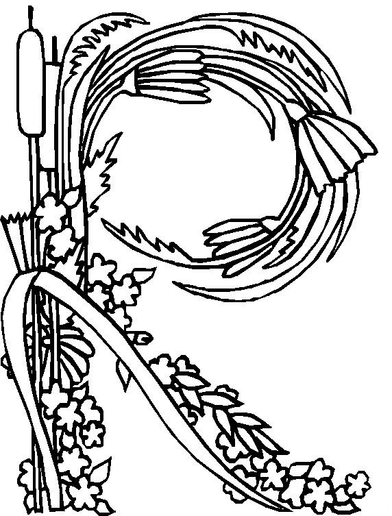 Kids-n-fun.com | 26 coloring pages of Alphabet Flowers