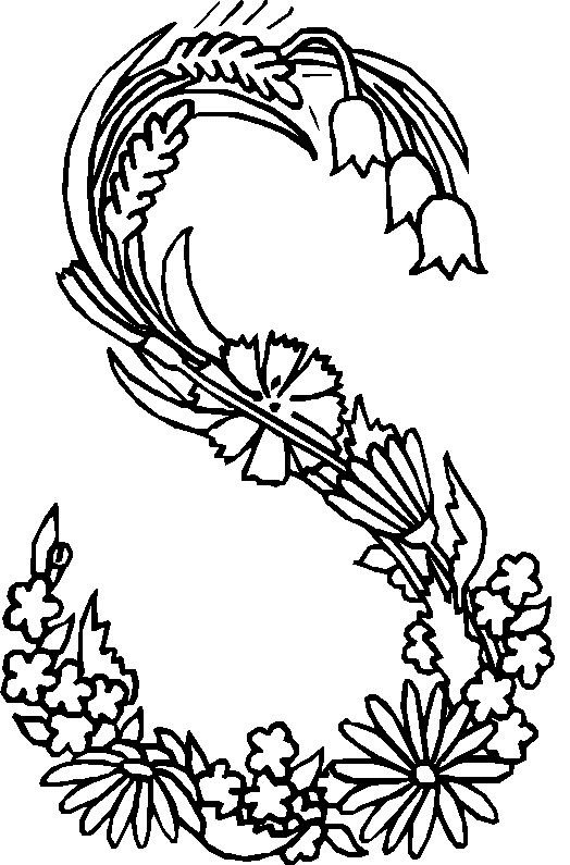 Kidsnfuncom  26 coloring pages of Alphabet Flowers