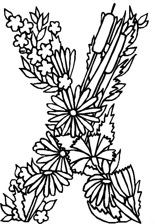 Kids N Fun Com 26 Coloring Pages Of Alphabet Flowers