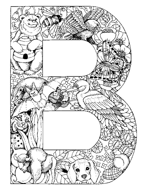 Kids-n-fun.com | 26 coloring pages of Alphabet animals
